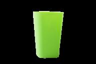 /Стакан пластиковый для письменных принадлежностей (для творчества), квадратный, зелёный (Р)