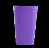 /Стакан пластиковый для письменных принадлежностей (для творчества), квадратный, фиолетовый (Р)