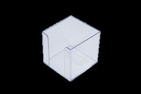 /Бокс для бумаги 90х90х90мм, прозрачный