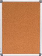 $Доска пробковая, 45x60см, вертикальная, алюминиевая рамка