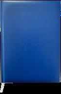 Ежедневник недат. MASTER, A5, клетка, синий, бумвинил/поролон