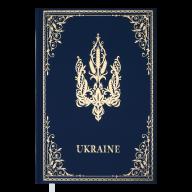 Ежедневник недат. UKRAINE, A6, голубой