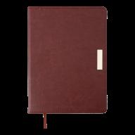 Ежедневник недат. SALERNO, A5, коричневый, иск. кожа