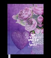 Ежедневник недат. ROMANTIC, A5, фиолетовый