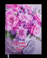 Ежедневник недат. ROMANTIC, A5, розовый