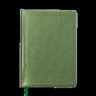@Ежедневник недат. METALLIC, L2U, A5, зеленый, иск.кожа