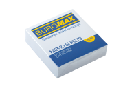 /Блок белой бумаги для записей, JOBMAX 80х80х20 мм, не склеенный