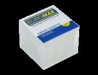 /Блок белой бумаги для записей, JOBMAX, 90х90х70 мм, не склеенный