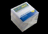 /Блок бумаги для записей РАДУГА, JOBMAX, 90х90х70 мм, не склеенный