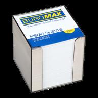 /Бокс пластиковый с белой бумагой, 90х90х90 мм, прозрачный, дымчатый