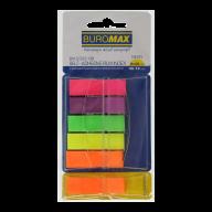 Закладки пластиковые POP-UP, NEON, с клейким слоем, 45x12 мм, 5+1 цв. по 40 л.