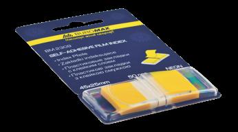 Закладки POP-UP, пласт., 45x25мм, 50л., желтый