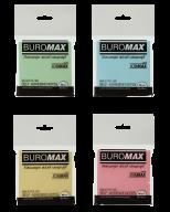 $Блок бумаги для записей с клейким слоем, JOBMAX, 76х76 мм, 80 л.,  2 цв.ассорти
