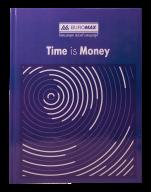 /Книга канцелярская TIME IS MONEY, А4, 96 л., клетка, офсет, твердая ламинированная обложка, синяя