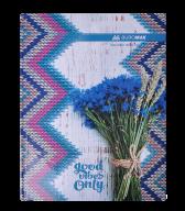 /Книга канцелярская ROMANTIC, А4, 96 л., клетка, офсет, твердая ламинированная обложка, синяя