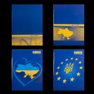 /Книга канцелярская UKRAINE, А4, 192 л., клетка, офсет, твердая ламинированная обложка, ассорти