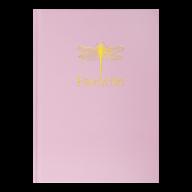 /Записная книжка FAVOURITE, PASTEL, А5, 96 л., клетка, офсет крем, тв. лам. обложка, розовая