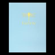 /Записная книжка FAVOURITE, PASTEL, А5, 96 л., клетка, офсет крем, тв. лам. обложка, голубая