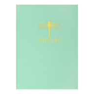 /Записная книжка FAVOURITE, PASTEL, А5, 96 л., клетка, офсет крем, тв. лам. обложка, мятная