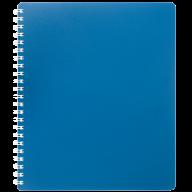 /Тетрадь для записей CLASSIC, B5, 80 л., клетка, пластиковая обложка, синяя