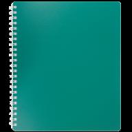 /Тетрадь для записей CLASSIC, B5, 80 л., клетка, пластиковая обложка, зеленая
