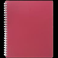 /Тетрадь для записей CLASSIC, B5, 80 л., клетка, пластиковая обложка, красная