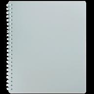 /Тетрадь для записей CLASSIC, B5, 80 л., клетка, пластиковая обложка, серая