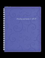 /Тетрадь для записей BAROCCO, B5, 80 л., клетка, пластиковая обложка, фиолетовая