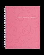 /Тетрадь для записей BAROCCO, B5, 80 л., клетка, пластиковая обложка, розовая