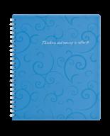 /Тетрадь для записей BAROCCO, B5, 80 л., клетка, пластиковая обложка, голубая