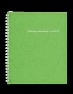 /Тетрадь для записей BAROCCO, B5, 80 л., клетка, пластиковая обложка, салатовая