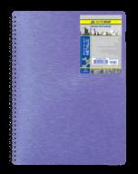 /Тетрадь на пруж. Metallic B5, 80л., кл., 65г/м2, фиолетовый, пластик. обл