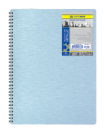 /Тетрадь на пруж. Metallic B5, 80л., кл., 65г/м2, серебряный, пластик. обл