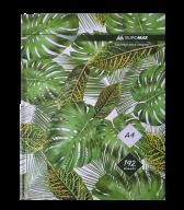 /Книга канцелярская FLORISTICA, А4, 192 л., клетка, офсет, твердая ламинированая обложка, зеленая