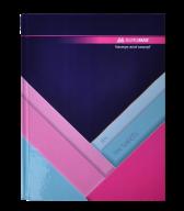 /Книга канцелярская MODEST, А4, 144 л., клетка, офсет, твердая ламинированая обложка, темно-синяя