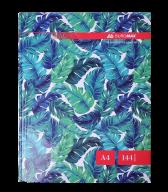 /Книга канцелярская FLORISTICA, А4, 144 л., клетка, офсет, твердая ламинированая обложка, бирюзовая