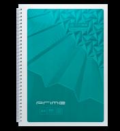 /Тетрадь для записей PRIME, А4, 96 л., клетка, картонная обложка, бирюзовая