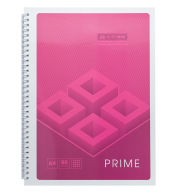 /Тетрадь для записей PRIME, А4, 96 л., клетка, картонная обложка, розовая