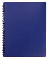 /Тетрадь для записей OFFICE, L2U, А4, 96 л., клетка, синяя, пласт.обложка
