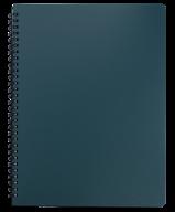 /Тетрадь для записей OFFICE, L2U, А4, 96 л., клетка, пластиковая обложка, зеленая