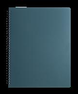 /Тетрадь для записей OFFICE, L2U, А4, 96 л., клетка, графит, пласт.обложка