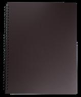 /Тетрадь для записей OFFICE, L2U, А4, 96 л., клетка, пластиковая обложка, темно-коричневая
