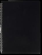 /ТетрадьдлязаписейGLOSSА4,80 л.,клетка,пластиковаяобложка,чёрная