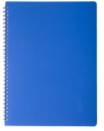 /ТетрадьдлязаписейGLOSSА4,80 л.,клетка,пластиковаяобложка,синяя