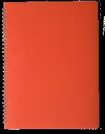 /ТетрадьдлязаписейGLOSSА4,80 л.,клетка,пластиковаяобложка,красная