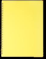 /ТетрадьдлязаписейGLOSSА4,80 л.,клетка,пластиковаяобложка,жёлтая