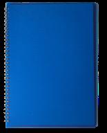 /ТетрадьдлязаписейRAINА4,80 л.,клетка,пластиковаяобложка,синяя