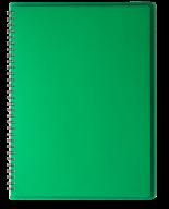 /ТетрадьдлязаписейRAINА4,80 л.,клетка,пластиковаяобложка,зеленая