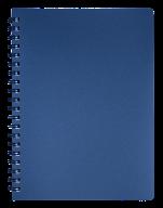/Тетрадь для записей STATUS, L2U, А4, 80 л., клетка, графит, пласт.обложка