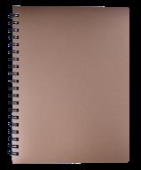 /Тетрадь для записей STATUS, L2U, А4, 80 л., клетка, бронзовая, пласт.обложка